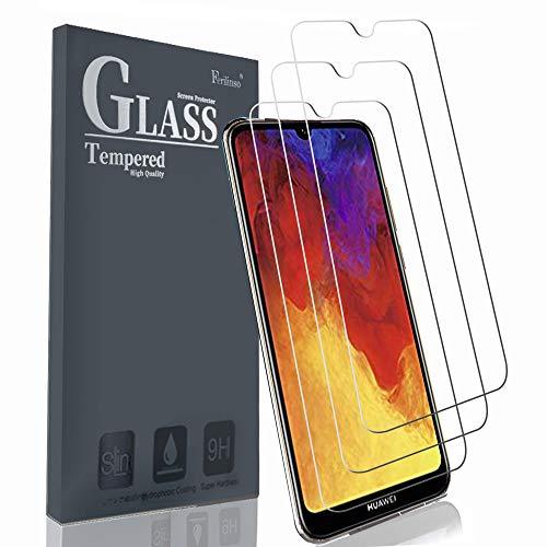 Schutzfolie Kompatibel mit Huawei Y6 2019 / Huawei Y6 Pro 2019 / Honor 8A, [3 Pack] Panzerglas Schutzfilm aus gehärtetem Glas (Transparent)