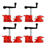 Yaetek (4 Pack) 3/4' Wood Gluing Pipe Clamp Set Heavy Duty Woodworking...