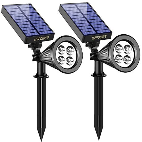 URPOWER Solar Lights, 2-in-1 Waterproof 4 LED Solar Spotlight...