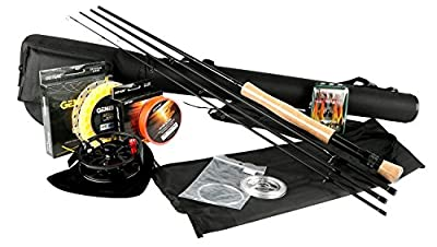 Goture Fly Fishing Rod and Reel Combos Kit 5/6 7/8 with Fishing Flies Line Rod Case by Goture