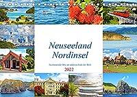 Neuseeland Nordinsel - faszinierende Orte am anderen Ende der Welt (Tischkalender 2022 DIN A5 quer): Die schoensten Staedte und die einzigartige Landschaft der Nordinsel Neuseelands. (Monatskalender, 14 Seiten )