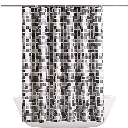 Cyleibe Duschvorhang Badezimmer, Anti-Schimmel-Duschvorhang, Mosaikmuster Textil Badezimmer Duschvorhang...