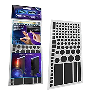 LightDims Original Strength – Light Dimming LED Covers/Light Dimming Sheets for Routers, Electronics and Appliances and More. Dims 50-80% of Light, in Retail Packaging.