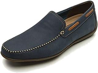 21b43d78 Flexi Shoes Mocasines de Piel Para Hombre Azul Azul 40 EU, Color Azul, Talla