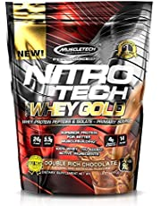 MuscleTech NitroTech Whey Gold, 100% Pure Whey Protein, Whey Isolate and Whey Peptides, Double Rich Chocolate, 2.2 LBS