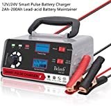 Beleeb Car Battery charger12V 24V Automatic Smart Maintainer 12V/20A(max) 24V/10A(max) Pulse Repair Charger