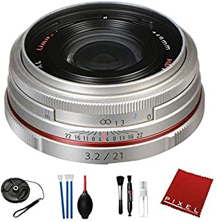 Pentax HD Pentax DA 21mm f/3.2 AL Limited Lens (Silver) with Pro Cleaning Kit