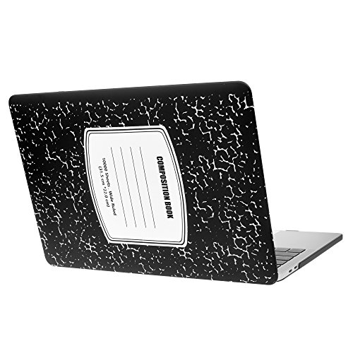 MacBook Pro 13 inch Case Cover 2020 2019 2018 2017 2016 Release A2159 A1989 A1708 A1706 Composition Notebook Laptop Hard Shell Cover Case - Black