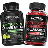 Garcinia Cambogia Extract Capsules & Apple Cider Vinegar Gummies - Appetite Suppressant & Carb Blocker - Formulated for Weight Loss, Energy Boost & Gut Health - Supports Digestion, Detox & Cleansing