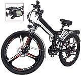 Bicicleta eléctrica de nieve, Bicicleta eléctrica plegable para adultos LED Pantalla eléctrica Montaña Bicicleta de bicicleta E-Bike Tres modos Montar a caballo ASIST 21 SPEASTS CAMBIO CAMBIO BICICLET