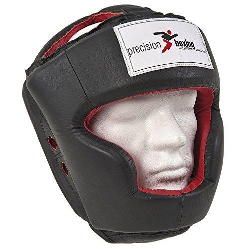 Precision Training da boxe in pelle Full Face Casco Protezione RRP 48