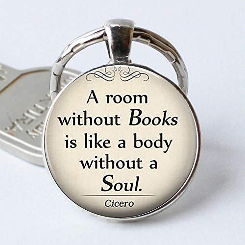 Zbzmm sleutelhanger voor een ruimte zonder boeken, Cyclerone Citation, sleutelhanger van glas, cadeau voor leraren