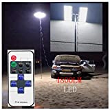 Outdoor Telescopic Fishing Rod Lamp - IP68 Waterproof Camping Lights - 3 Levels Adjustable Brightness Telescopic Rod Outdoor Lantern with RF Remote for Fishing, Travelling, Party (Multicolor, COB Rod)