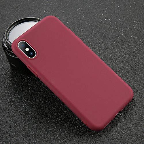 ZFLL Displayschutz Telefonkasten für iPhone 7 6 6s 8 X Plus 5 5s SE XR XS maximales einfaches Normallack-ultradünnes weiches TPU-Fall-Süßigkeit-Farben-rückseitige Abdeckung-für iPhone 5 5s