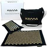 KAMASPORTS Esterilla de acupresión prémium con cojín y funda, en caja de regalo, juego de masaje, esterilla de acupresión de uñas