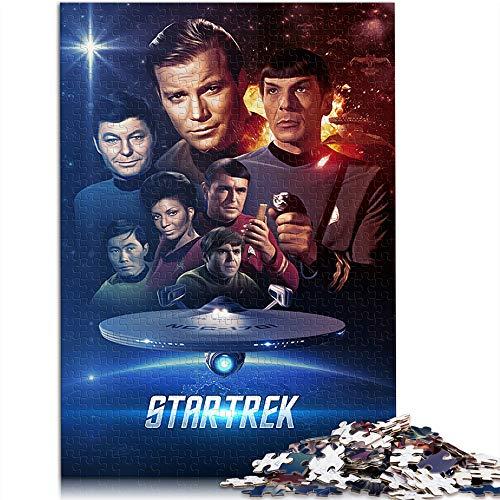 KKASD 1000 comprimés pour Adultes Star Trek 1000 Jouets de Puzzle pour Adultes et Enfants Movie Poster Jouet de Jeu de Puzzle Brain Challenge (75x50cm)