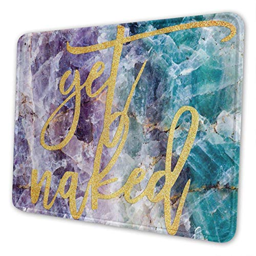 Gaming Mouse Pad Holen Sie sich Naked Gold Kristall Mineral Marmor dekorative Mousepad Mat Gummibasis Home Decor für Computer Laptop Office Home