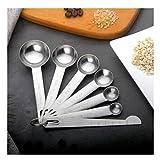 Xinlie Cucharas Medidoras Juego Medidas Cucharas INOX 7 Piezas Herramientas de Cocina Cucharas Acero Inoxidable Utensilios de Cocina Juego de Cucharillas para Cocina Medir Líquidos Sólidos