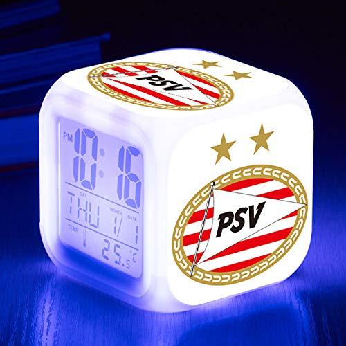 HHKX100822 Copa del Mundo Holanda A-League Colorido Despertador Led Quad Despertador Reloj Creativo Pequeño Despertador B