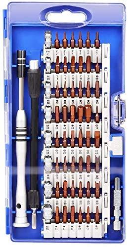 Juego de herramientas magnéticas 60 en 1 Kits de herramientas de reparación de electrónica magnética para iPhone, tabletas para iPad, Macbook, PC, cámaras, teléfonos inteligentes, relojes, gafas con e