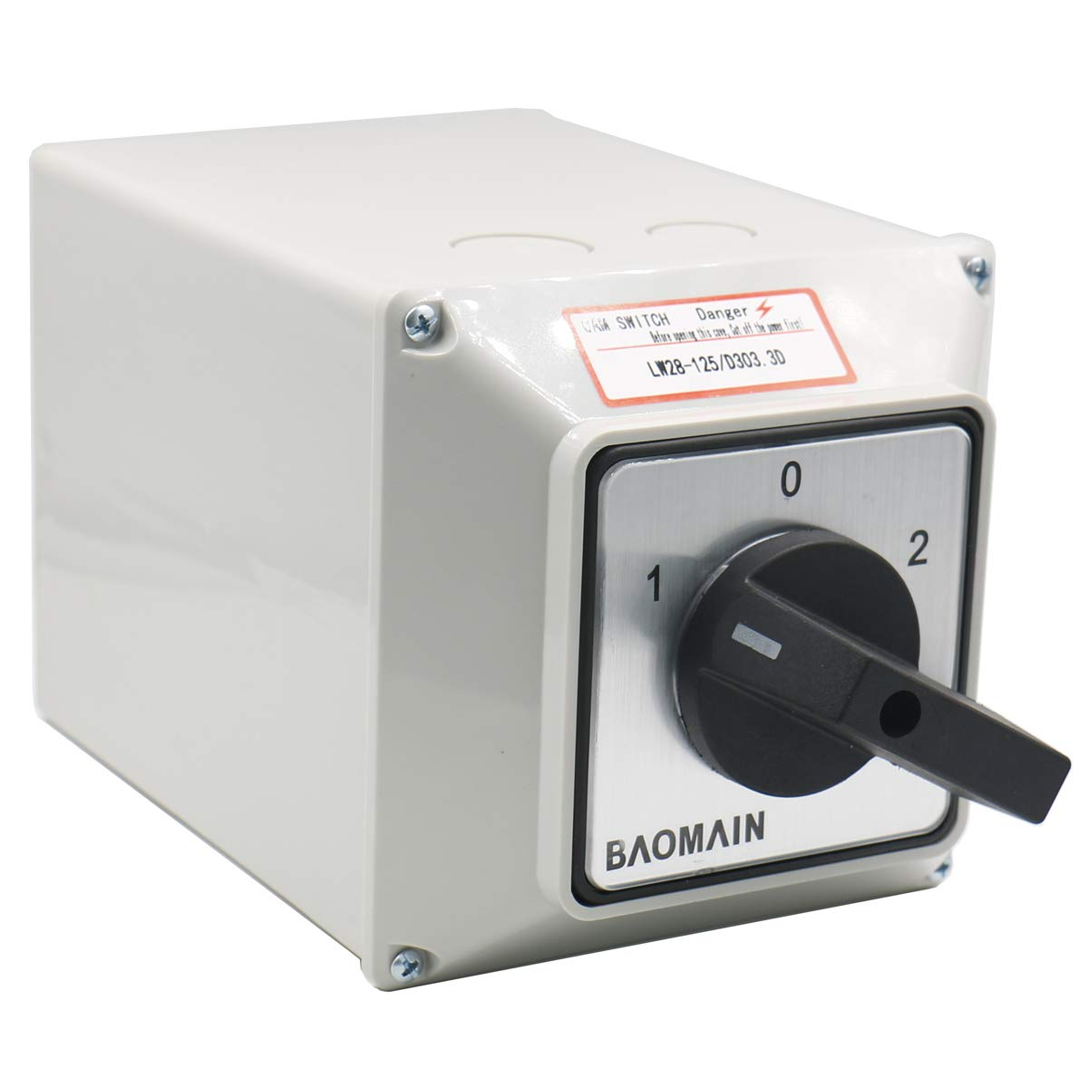 Baomain Universal Rotary Changeover Switch LW28-125 Max 69% OFF with D303.3 New life