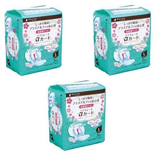 【まとめ買い】ダッコ dacco お産用パッド ソフトレーヌαガード Lサイズ(30cm×56cm) 5個入 (L 5個入×3)