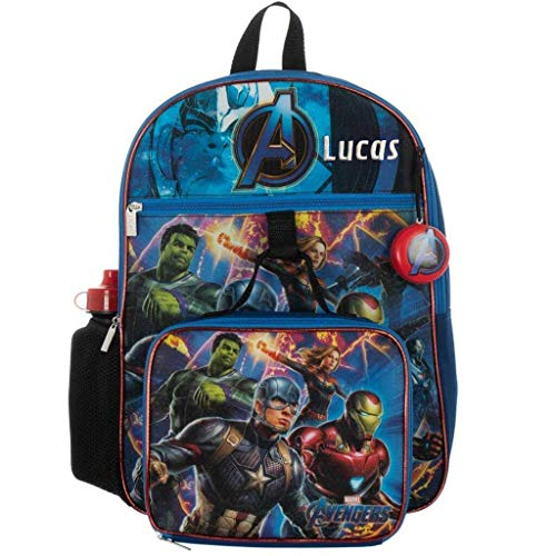 Personalized Marvel Avengers 5-Piece Kids Backpack Set