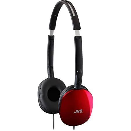 JVC HAS160R Flat Headphones - Red