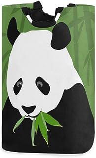 N\A Panier à Linge Animal Panda, boîte de Panier à Linge en Bambou Panda Grand Rangement étanche Facile à Transporter pour...