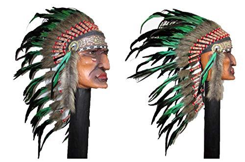 No Eye Deer Disfraz de jefe indio nativo americano, tamaño mediano