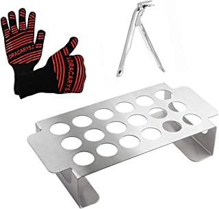 QQMaster Grill Grate Lifter Gripper,Jalapeno Grill Rack and Oven Glove Heat Resistant Smoking Tool Set-Perfect Big Green Egg Accessories and Fits for kamado joe,Weber Kettle Parts Replacement