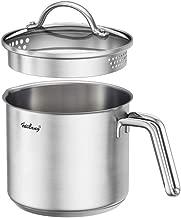 1.5 Quart Stainless Steel Saucepan With Pour Spout, Saucepan With Lid, Mini Milk Pan With Spout - Perfect For Boiling Milk, Sauce, Gravies, Pasta, Noodles