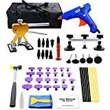 WUPP Paintless Car Dent Repair Tools, 59 pcs Auto Body Dent Removal kit Dent Puller Set for Hail Damage Door Dings Repair