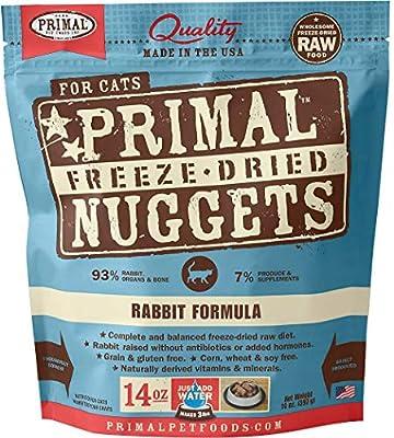 Primal Freeze Dried Cat Food - Rabbit Formula - 14 Oz.