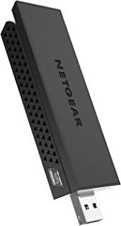 NETGEAR AC1200 Wi-Fi USB Adapter High Gain Dual Band USB 3.0 (A6210-100PAS), Black