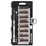 Kit de Destornillador magnético Kit de Herramientas de reparación de electrónica Profesional S2 Steel 60 en 1 Kit de Destornillador de precisión para Tableta iPhone - Negro