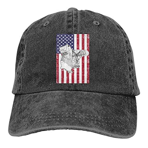 Jopath Soldador Soldar Sombrero de la bandera americana,Gorra de béisbol,Unisex Vintage ajustable Papá Hat Trucker Hat