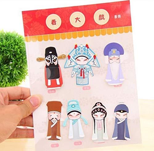 7 Teile/satz Kreative Chinesischen stil klassische elemente von Peking oper dramatik maske lesezeichen/DIY Multifunktions Lesezeichen