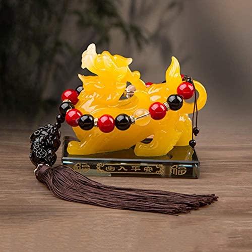XQMY Feng Shui Pi Yao Pi Xiu Estatua, Perfume Creativo Asiento de Resina Artesanía Decoración Estatua de Pixiu, Atrae Riqueza y Buena Suerte, Decoración de Oficina en casa Decoración de Coche, 12 cm