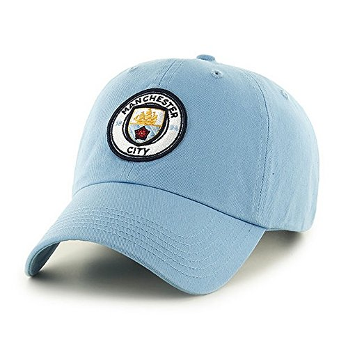 Manchester City FC Adults Official Football/Soccer Crest Baseball Cap (One Size) (Sky Blue)