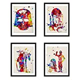Nacnic Prints War of Galaxies Star Wars Style - Set of 4 - Unframed 11x17 inch Size - 250g Paper - Beautiful Poster Painting for Home Office Living Room