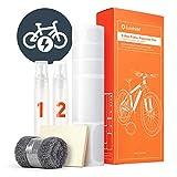 Luxshield E Bike Lackschutzfolie für eBike, Pedelec, Elektro Fahrrad, E-Bike, MTB etc. - 20-teiliges Rahmen-Set gegen Steinschlag - Transparent & selbstklebend