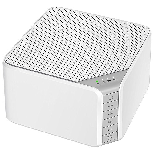 White Noise Sound Machine, AVANTEK 20 Non-Looping High Fidelity Soothing Sounds for Sleeping, with Earphone Jack, Fan & Nature Sounds, Memory Function, 7 Timer Settings, White