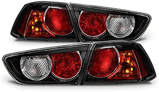 For Black 08-17 Mitsubishi Lancer 08-15 Lancer Evolution EVO X 4pcs Rear Tail Lights Brake Lamps Set