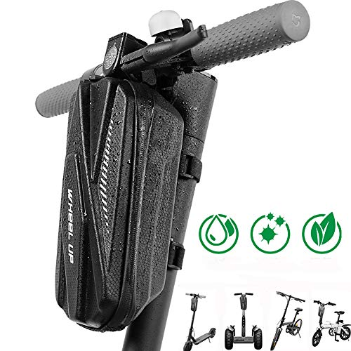 Vihir E - Bolsa impermeable para manillar de scooter, bolsa Eva resistente con capacidad de 2L/3L, ideal para scooter eléctrico, patinete y equilibrio electrónico, Negro , 3 L