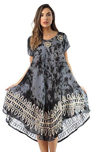Riviera Sun 21803-BLK-1X Dress Dresses for Women Black/White