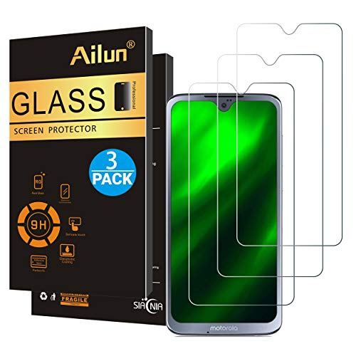 Ailun Screen Protector Compatible with Moto G7 3 Pack 9H Hardness Tempered Glass Screen Protector for Moto G7 Moto G7 Plus 6.2Inch Display Ultra Clear Bubble Free Case Friendly High Responsive