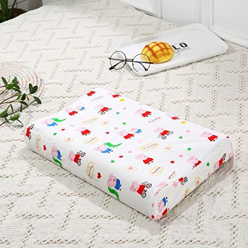 Becozy oreillers pour Enfant avec taie d'oreiller Mousse à mémoire de Forme Taie d'oreiller, Coton, 44 x 27 cm (45,7 x 27,9 cm) Peppa Pig