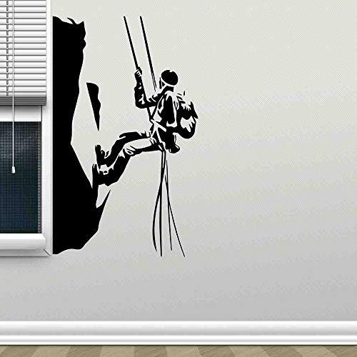 HGFDHG Calcomanías de Escalada en la Pared escaladores Deportes Extremos Pegatinas de Vinilo para Ventanas Dormitorio Sala de Estar Oficina decoración de Interiores Mural