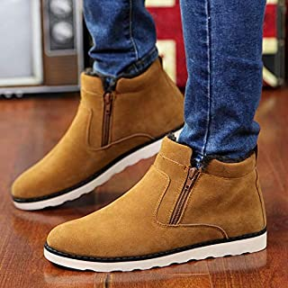 HAWEEL Round Head Suede Couple Snow Boots Shoes